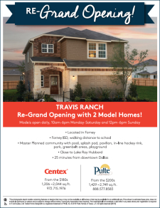 Re-Grand Opening of Travis Ranch with 2 New Model Homes!