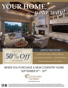 Receive 50% off options!*