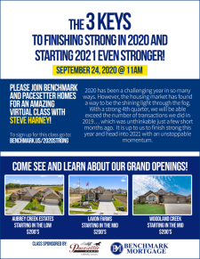 Register Now! Discover the 3 Keys to Finishing Strong in 2020