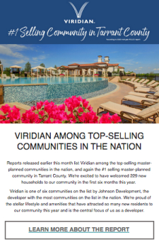 Sales Tools At Your Fingertips for Our Central DFW Top-selling Community
