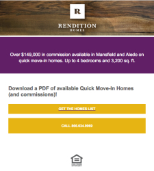 See Quick Move-In Homes in Aledo and Mansfield | Rendition Homes