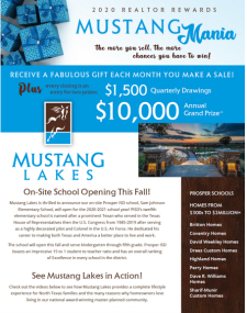 Sell in Mustang Lakes, Receive Gift & Chance to Win 💲