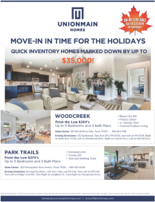 Up to $35K off Homes READY FOR THE HOLIDAYS
