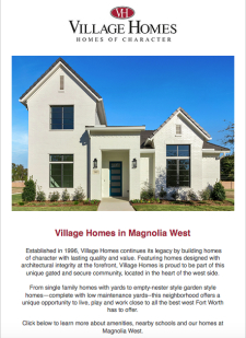 Village Homes in Magnolia West