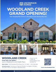 Woodland Creek Grand Opening!