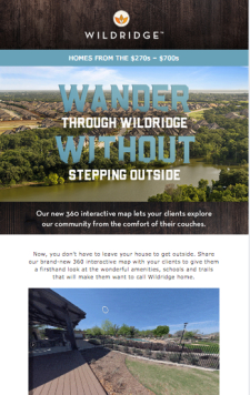 Your clients can virtually tour Wildridge