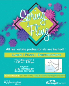 You're invited to our Spring Fling Event at Bayside