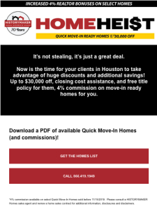 4% Commission on Quick Move in Homes Discounted up to $30K | HistoryMaker Homes