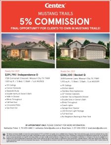 5% Commission in Mustang Trails!