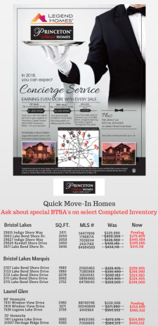 BTSA* On Select Inventory Homes!