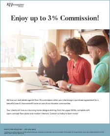 Calling All Agents! Earn Up to 3% Commission*