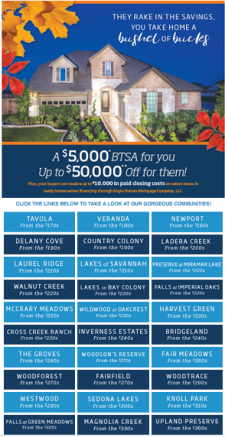 Don't miss out - $5k BTSA on Select Inventory for a limited time!