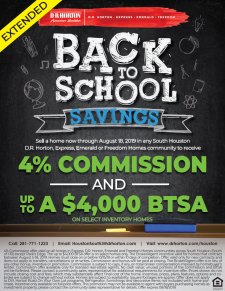 EXTENDED 4% Commission and BTSAs in South Houston!