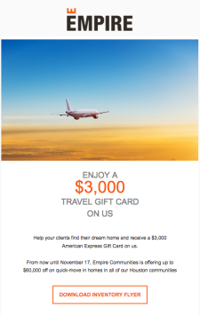 Enjoy $3,000 Travel Gift Card + $60,000 Off For Your Clients