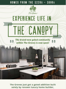 Explore The Groves' new gated community, Canopy at The Groves