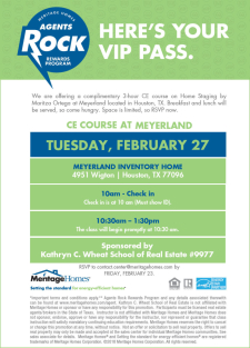 Free CE Course With Breakfast & Lunch in Meyerland on Feb 27!