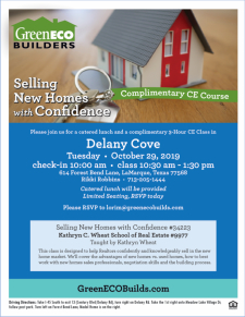 Join Us for Lunch and a CE Class at Delany Cove