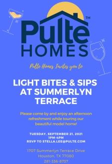 Join us in Summerlyn Terrace for Light Bites & Sips!