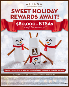 Just For You! $80,000 in BTSAs through December 31st 2019*