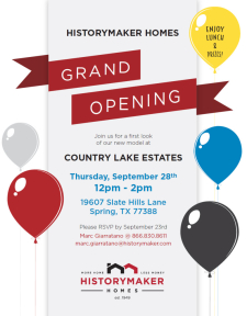 Lunch Is On Us & Win Prizes at the Grand Opening of Country Lake Estates!