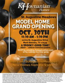 Model Home Grand Opening Oct. 30th | Mont Belvieu, TX!