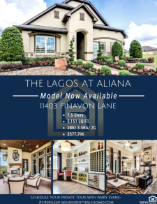 Model Now Available - The Lagos at Aliana!