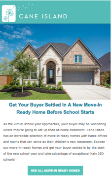 Move-In Ready Homes Await at Cane Island in Katy