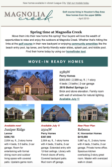New League City Homes Available Now