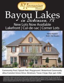 New Lots Now Available at Bayou Lakes