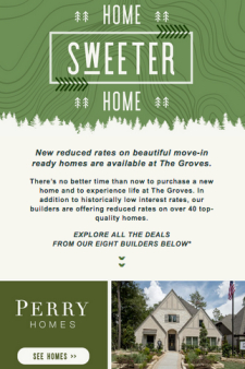 New lower home prices at The Groves