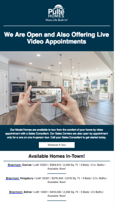 Pulte Has Quick Move-In Homes