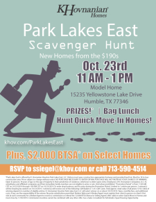 Quick Move-In Home Scavenger Hunt at Park Lakes East in Humble!