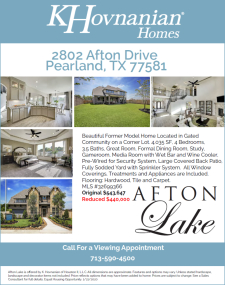 Reduced Price on Model Home for Sale in Afton Lake!