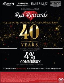 Ring in the New Year with 4% Commission on ALL Homes!