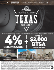 Round up 4% Commission and BTSAs on select homes across Houston!