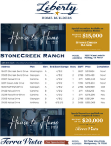 Special Incentives - Up to $20K on Select Homes!