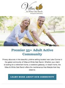 The 55+ Adult Active Community Your Clients Deserve🚴