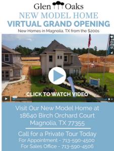 Virtually Tour New Glen Oaks Model in Magnolia, TX