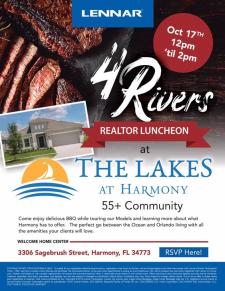 4 Rivers Realtor Luncheon at The Lakes at Harmony!