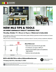 Agent Seminar on New MLS Tips and Tools!