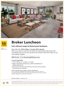 Broker Luncheon at Carriage Hill in Apopka