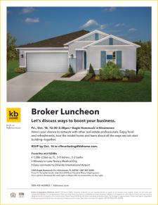 Broker Luncheon at Eagle Hammock in Kissimmee