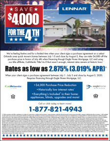 Celebrate Independence Day with $4,000 off your clients New Home!*