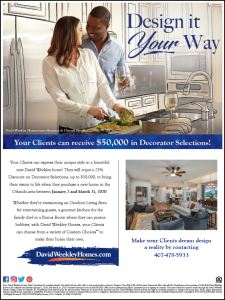 Design It Your Way - Receive Up To $50,000 in Decorator Selections!