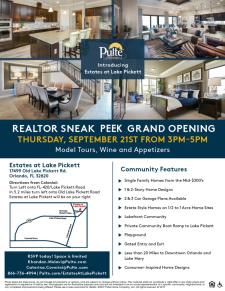 Estates at Lake Pickett Grand Opening - Enjoy Appetizers & Wine!