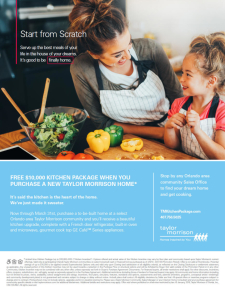 Free $10,000 Kitchen Package When You Purchase a New Taylor Morrison Home*