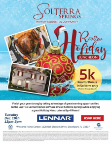 Join Us For a Holiday Luncheon in Solterra Springs!