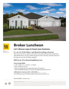Join us for a Broker Luncheon at Lake Minneola Landings!