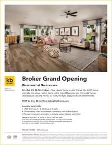 Join us for the Rivercrest Broker Grand Opening
