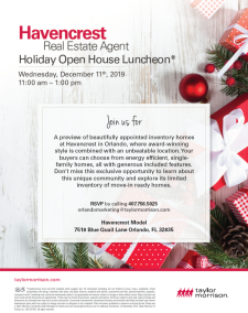 Join us in Havencrest for a Holiday Open House Luncheon!